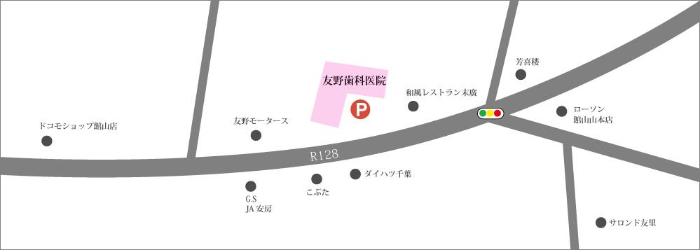 友野歯科医院 駐車場マップ